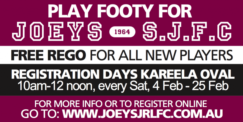 Joeys JRLFC Rego 2017