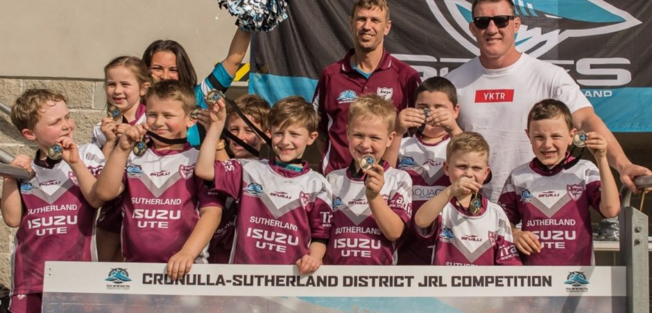 Joeys Under 7 finalists with Gal